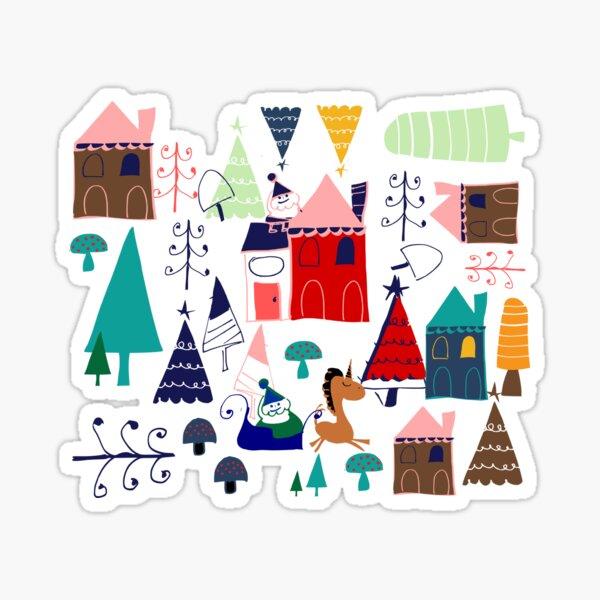 Christmas Unicorn #Christmas Sticker