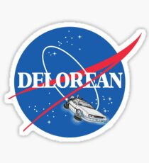 Delorean Nasa Sticker