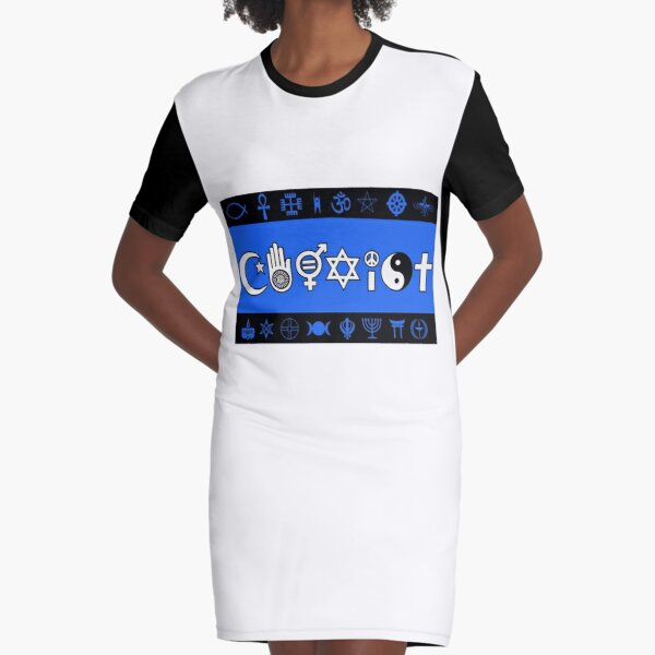coexist meaning Graphic T-Shirt Dress