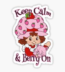 Keep Calm and Berry On Sticker