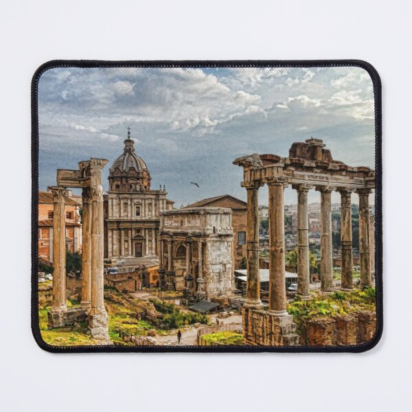 Ancient Roman Forum Ruins - Impressions Of Rome Mouse Pad
