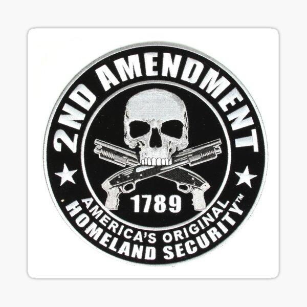2nd Amendment Skull Sticker