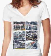 rally Group B Women's Fitted V-Neck T-Shirt