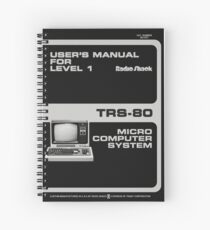 Radioshack TRS-80 Manual, Vector Recreation  Spiral Notebook