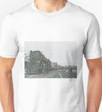 Engine 6606 Makes a Station Stop Unisex T-Shirt