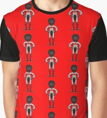 Red Motorcycle Rider Graphic T-Shirt