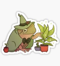 Green Tree Frog - Worf Sticker