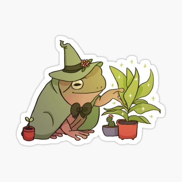 Rana de árbol verde - Worf Pegatina