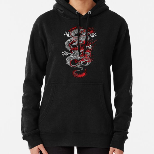 Asian Dragon Pullover Hoodie