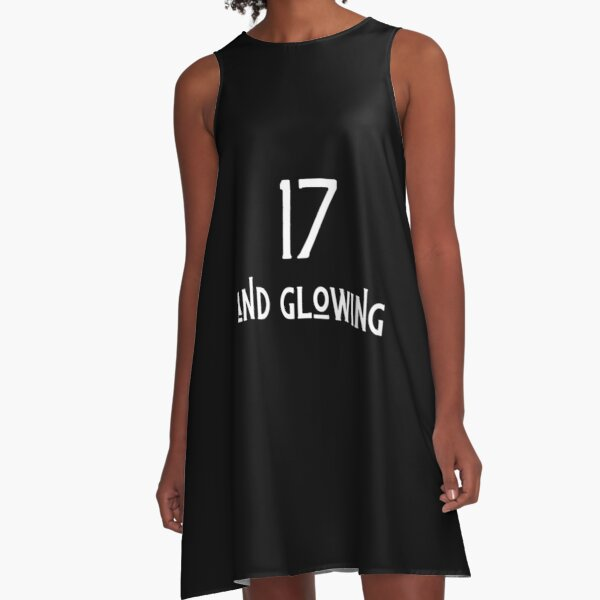 17 and glowing A-Line Dress