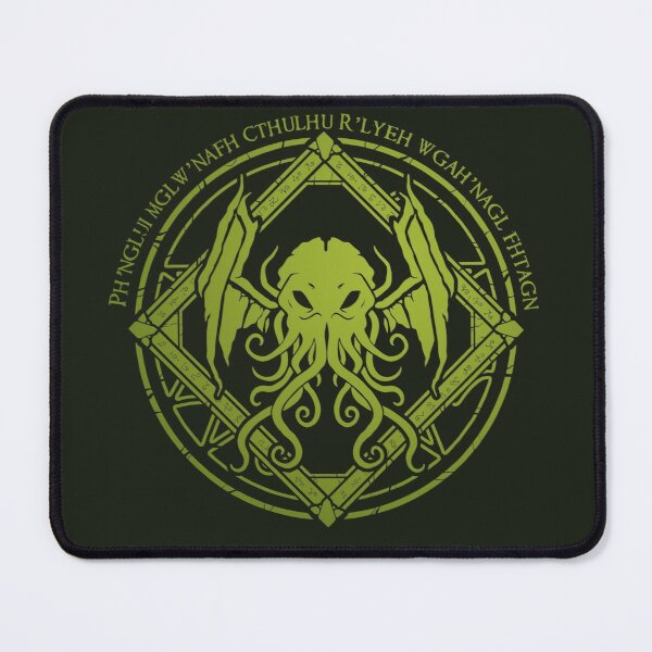 Cthulhu - Lovecraft - Chant design Mouse Pad