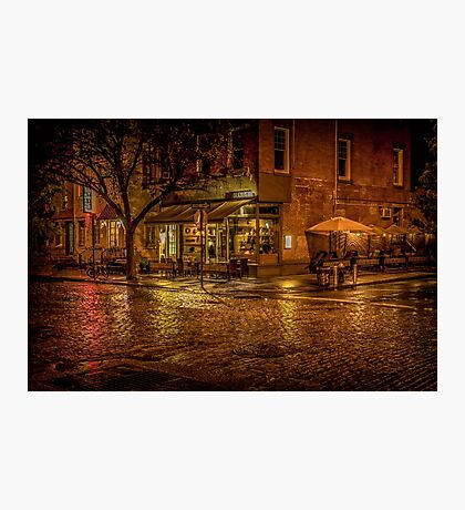 Rain On The Cobblestones Of Greenwich Village Photographic Print
