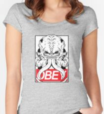 OBEY CTHULU Women's Fitted Scoop T-Shirt