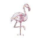 Pink Flamingo  Zentangle Abstract  by IconicTee