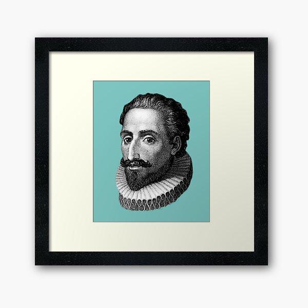 Cervantes Lámina enmarcada