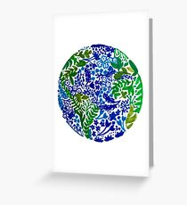The Earth Laughs in Flowers Greeting Card