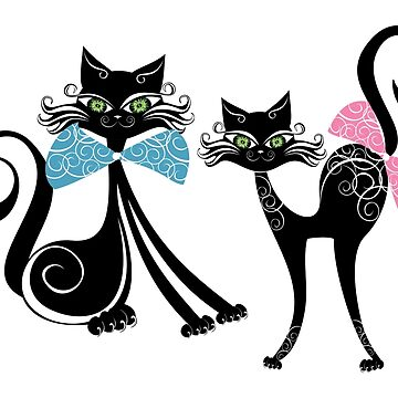 Black Zazzy Cats by IconicTee