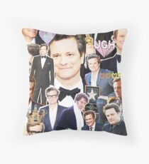 colin firth collage Throw Pillow