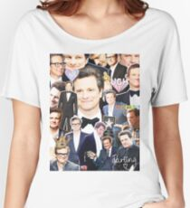 colin firth collage Women's Relaxed Fit T-Shirt