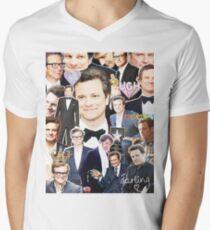 colin firth collage Men's V-Neck T-Shirt