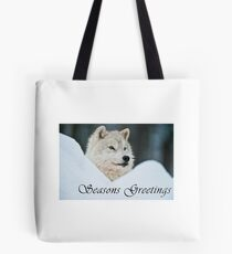 Arctic Wolf Seasons Card - 14 Tote Bag