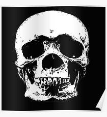 macabre skull design Poster