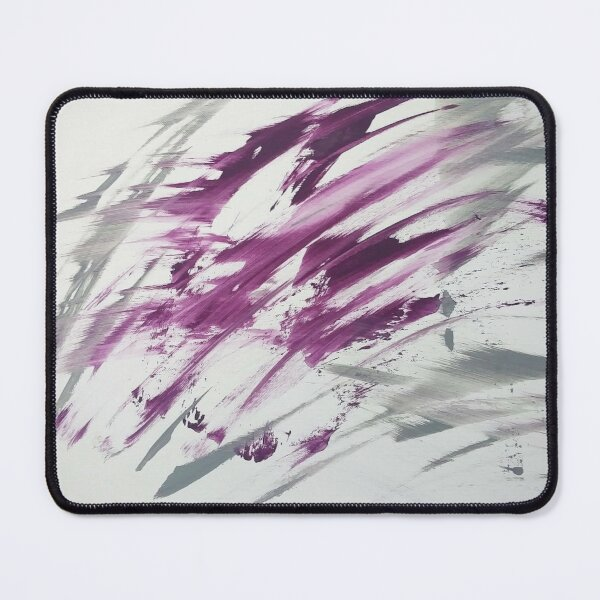 Purple Gray Abstract Mouse Pad