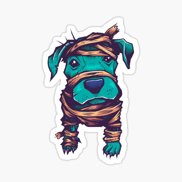 Pitbull Mummy Sticker