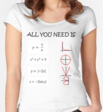 All you need is love - Math  Women's Fitted Scoop T-Shirt