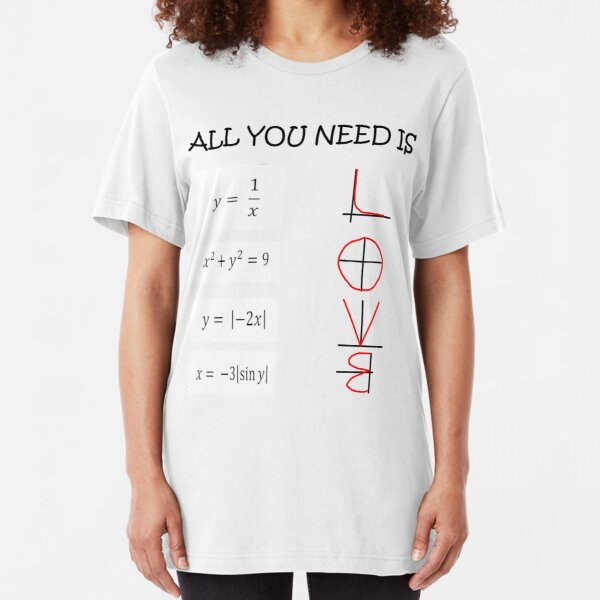 All you need is love - Math  Slim Fit T-Shirt