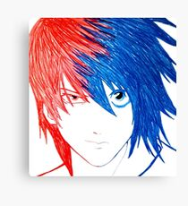 Light Vs L - Death Note Canvas Print