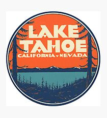 Lake Tahoe California Nevada Vintage State Travel Decal Photographic Print