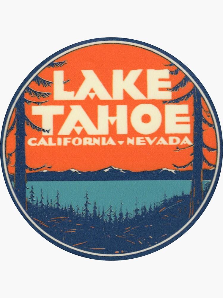 Lake Tahoe California Nevada Vintage State Travel Decal de hilda74