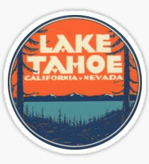 Pegatina Lake Tahoe California Nevada Vintage State Travel Decal
