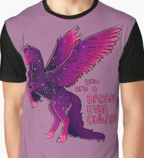 """""""Badass Ever Onwards"""" Pegasus Graphic T-Shirt"""