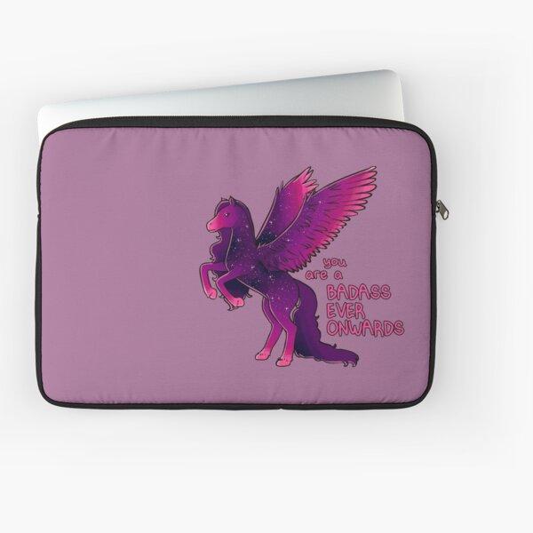 """""""Badass Ever Onwards"""" Pegasus Laptop Sleeve"""