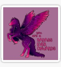 """""""Badass Ever Onwards"""" Pegasus Sticker"""