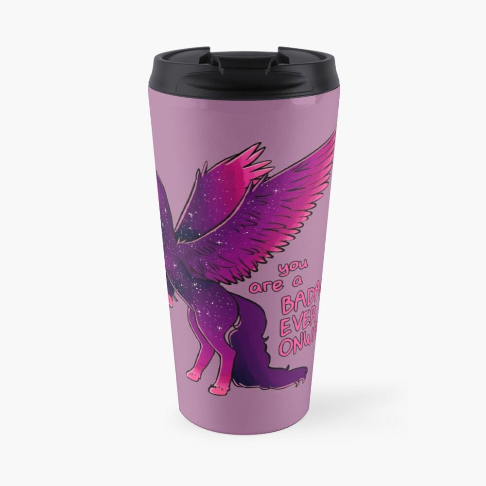 """""""Badass Ever Onwards"""" Pegasus Travel Mug"""