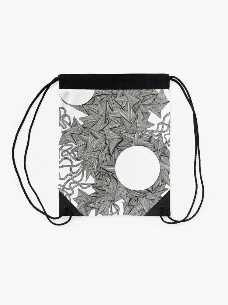 Alternate view of Black Pen Drawstring Bag