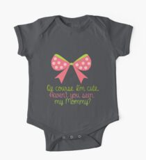 Baby Girl Bow One Piece - Short Sleeve