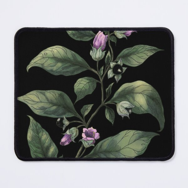 Belladonna. Deadly nightshade. Magical herbs  Mouse Pad