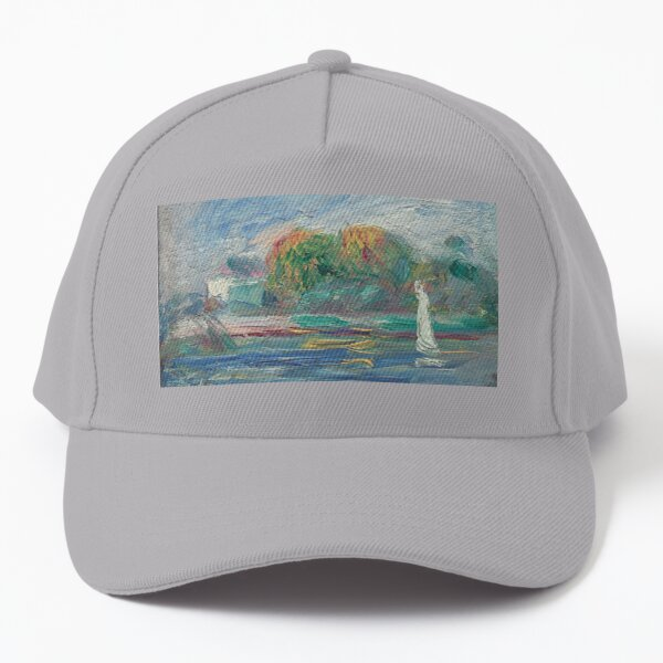The Blue River Oil Painting by Auguste Renoir Baseball Cap