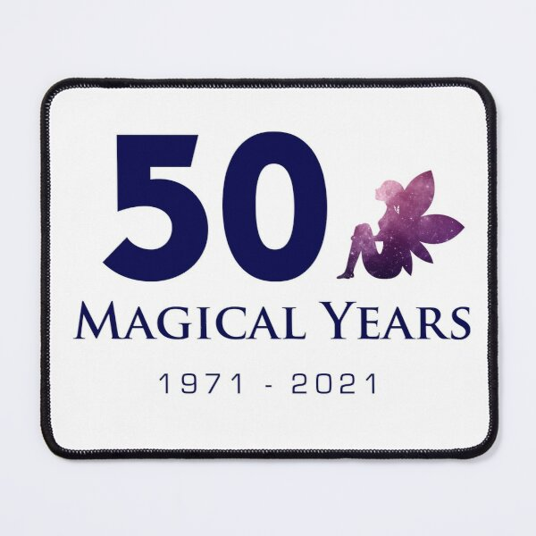 50 Magical Years - Fairy (Blue Text) Mouse Pad