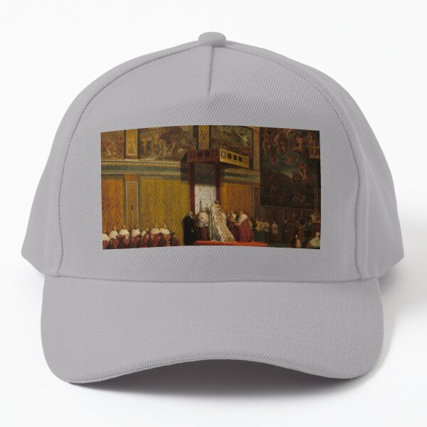 Pope Pius VII in the Sistine Chapel Oil Painting by Jean-Auguste-Dominique Ingres Baseball Cap