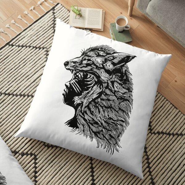 Wolf Girl Floor Pillow