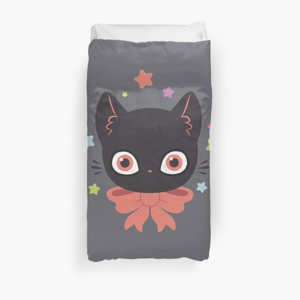 Pink Bow Kitty Duvet Cover