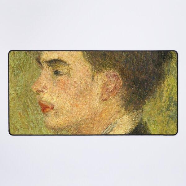 Georges Rivière Oil Painting by Auguste Renoir Desk Mat
