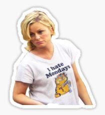 Leslie Knope - I Hate Mondays Sticker