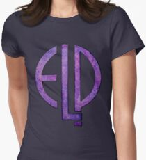 Spacey Emerson, Lake & Palmer Logo Women's Fitted T-Shirt