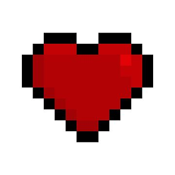 pixel heart big by NellyD